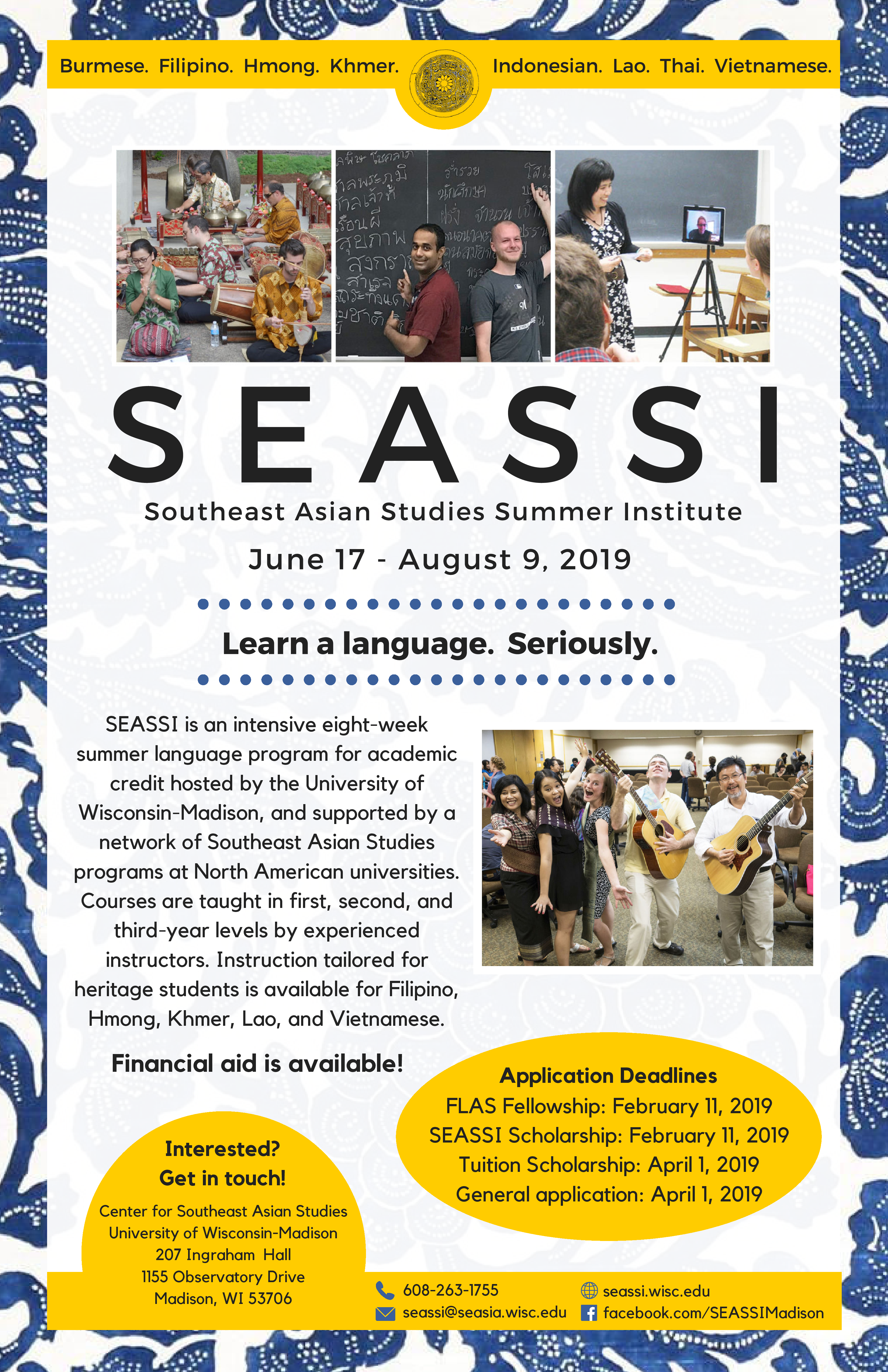 2019 SEASSI Poster front