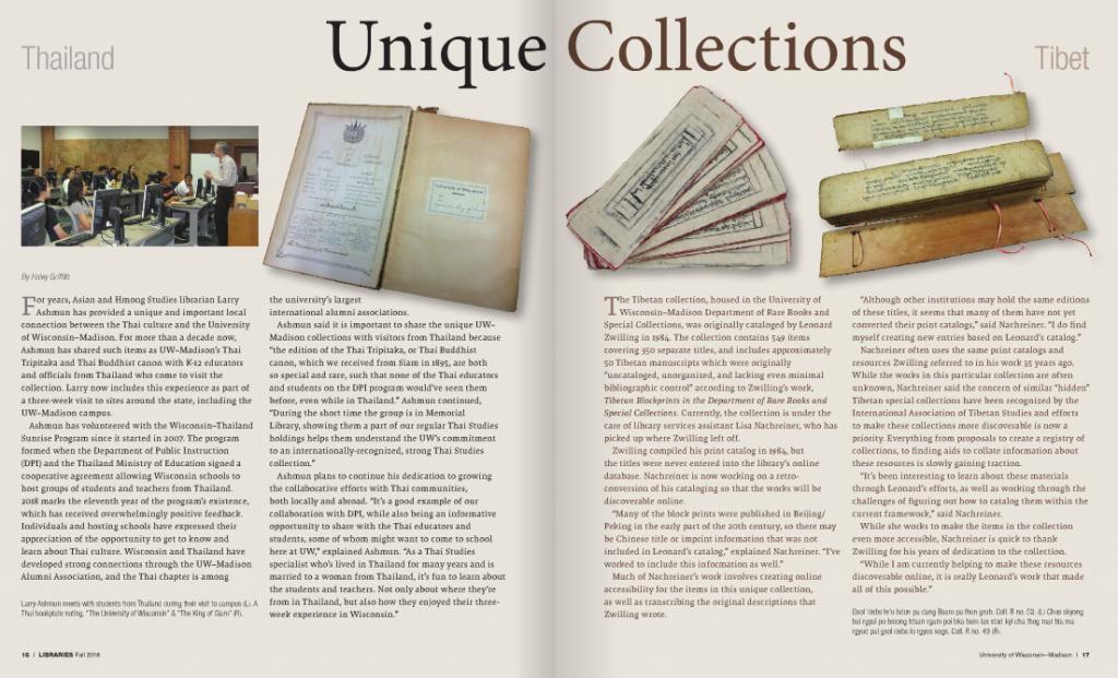 Libraries Unique Thailand Collection